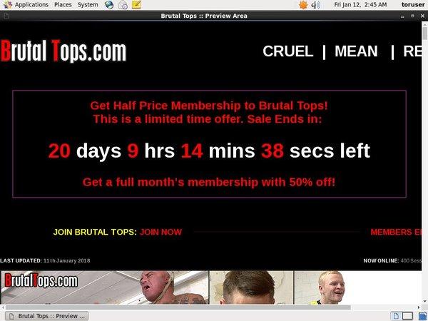 Brutaltops.com Checkout Form