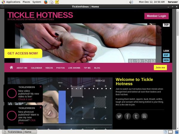 TICKLE HOTNESS Premium Login