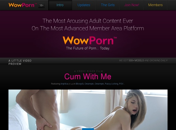 Wowporn Sign In